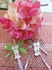 Segnaposto sposini - sposi - coppia in  gesso ceramico profumato