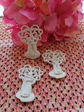 Sposini -sposi albero della vita in gesso ceramico profumato per il fai da te