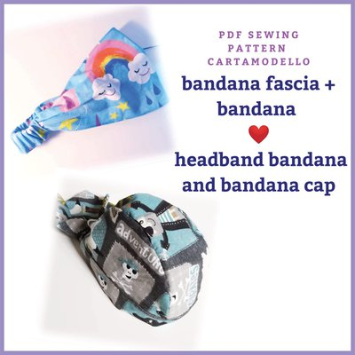cartamodello pdf bandana cappello e fascia bandana bambini e adulti