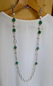 Fantastica Collana Lunga in Perle di Fiume