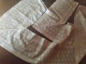 Pizzo bordo merletto Sangallo vintage Italy anni '80 ecrù