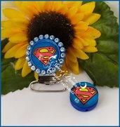 Clip con strass più inserto *SUPERMAN*