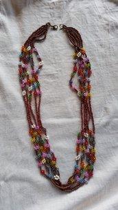 Collana perline millefiori