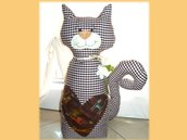 Gatto fermaporta- Cats's heart- Cucito creativo