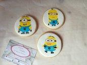 Minions biscotti biscotto festa a tema compleanno personalizzati sweettable gadget bambini