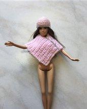 Poncho berretto bambola barbie