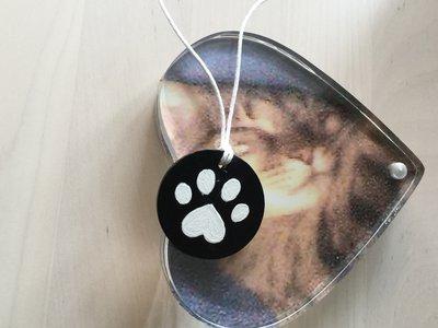 Ciondolo in legno per gatto o cane