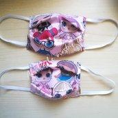 Mascherina di stoffa per bambine/ragazze