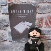 Portachiavi Jon Snow in pannolenci