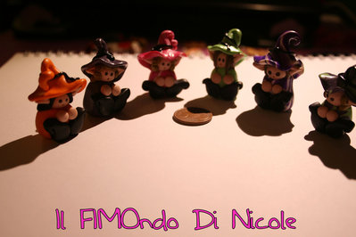 Folletto ciondolo - Elf charm - Fimo