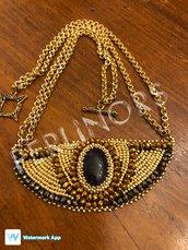 """Collana """"Nefertari"""" in embroidery"""