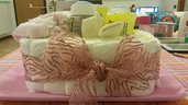 Cesto di pannolini rosa