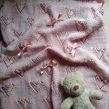 Copertina neonato in cotone ai ferri per carrozzina culla estate, regalo nascita, copertina fatta a mano