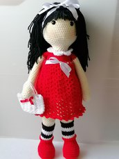 Rossella, bambola amigurumi