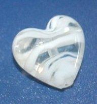 cuore in vetro murano