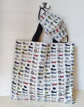 borsa shopping shopper cotone
