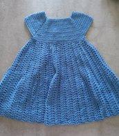 Vestito bambina. Colore blu navy . 100% cotone