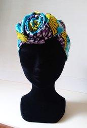 Fascia capelli modellabile, fascia etnica, turbante, wax