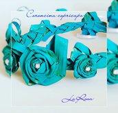 "Coroncina copricapo di rose ""Happy garden"""