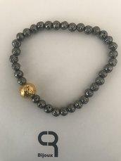 Bracciale perle di lava