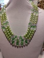 collana tre fili con perle