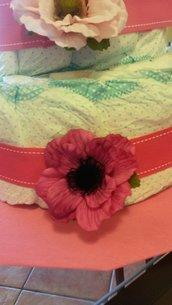Torta pannolini fiori