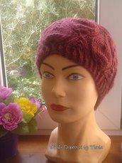 """Cappello in lana per donna, fatto a mano, """"castagne"""""""