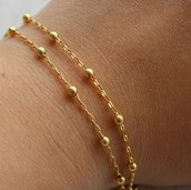 Braccialetto serpentina placcato oro