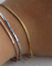 Braccialetto tre fili argento 925