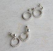 Orecchini in argento 925 con zirconi