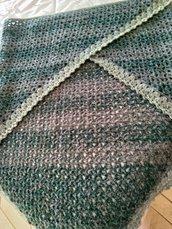 Scialle colorato lana