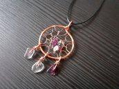 Ciondolo wire acchiappasogni con fluorite