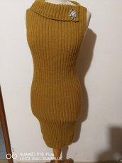 tubino donna lana