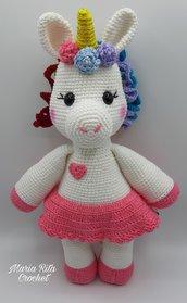 L'unicorno arcobaleno amigurumi