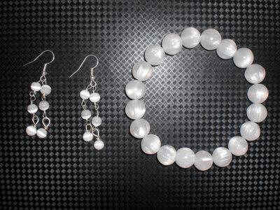parure perle bianche