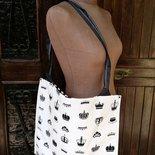 "Shopping Bag ""Crowns&Strips"""