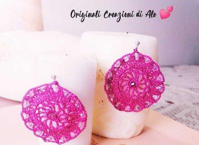 Orecchini fiori rosa