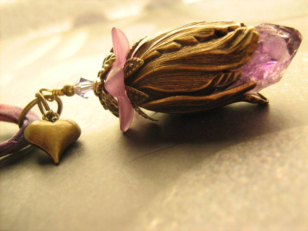 Collana Vintage Amethyst Flower