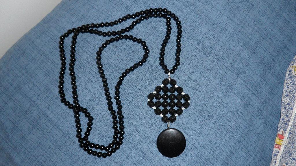 Collana con Mix di Perle Nere