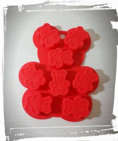 stampo silicone orsetto teddy per gessetti fimo resina