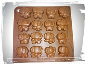 stampo silicone elefantini per gessetti fimo resina