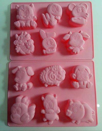 stampo silicone animaletti misti per gessetti fimo resina