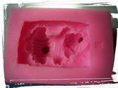 stampo silicone bebè su cuscino per gessetti fimo resina