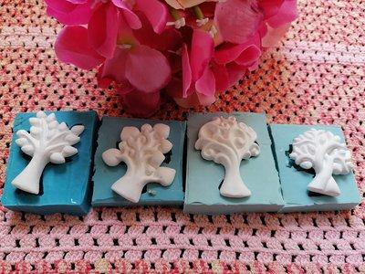 Multistampo stampo albero della vita in gomma siliconica professionale da colata 4 modelli