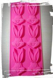 stampo silicone cartoni animati bugs bunny per gessetti fimo resina festa a tema