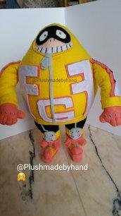 Peluche ispirato a Fat Gum - My hero academia - bhna