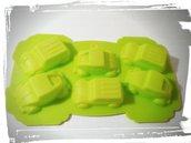 stampo silicone macchinine per gessetti fimo resina compleanno nascita