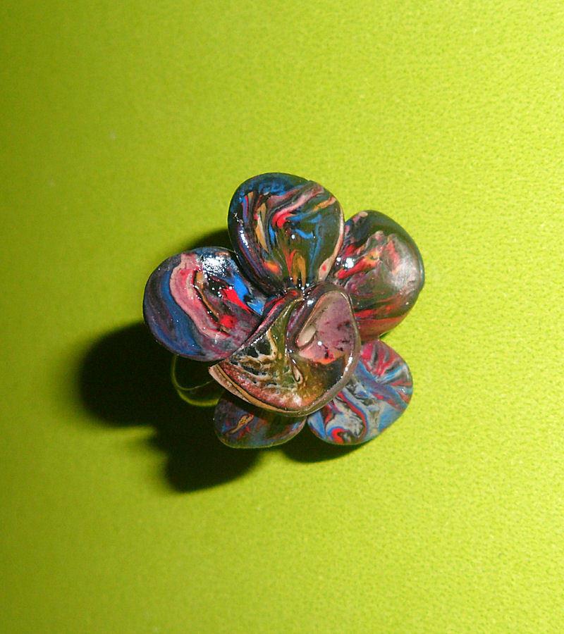 Anello Vintage Fiore in Fimo
