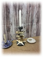 Porta candela PACIFIC con legni di mare fatto a mano