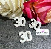 Gessetto profumato numero 30 compleanno festa